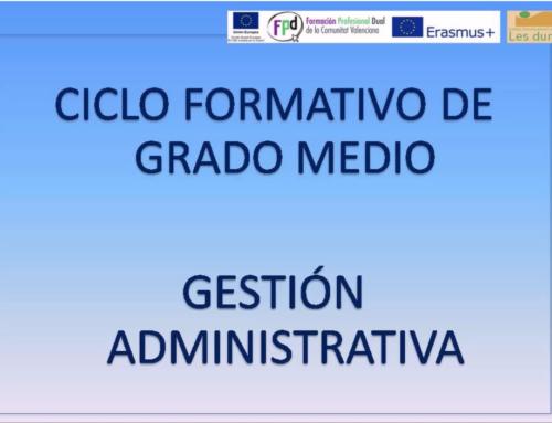 IES LES DUNES. Oferta formativa de ciclos formativos de gestión administrativa.