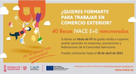 BECAS IVACE E+E EXPORTACIÓN Y EMPLEO 2021